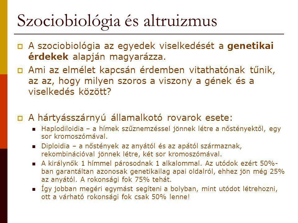 Szociobiológia és altruizmus