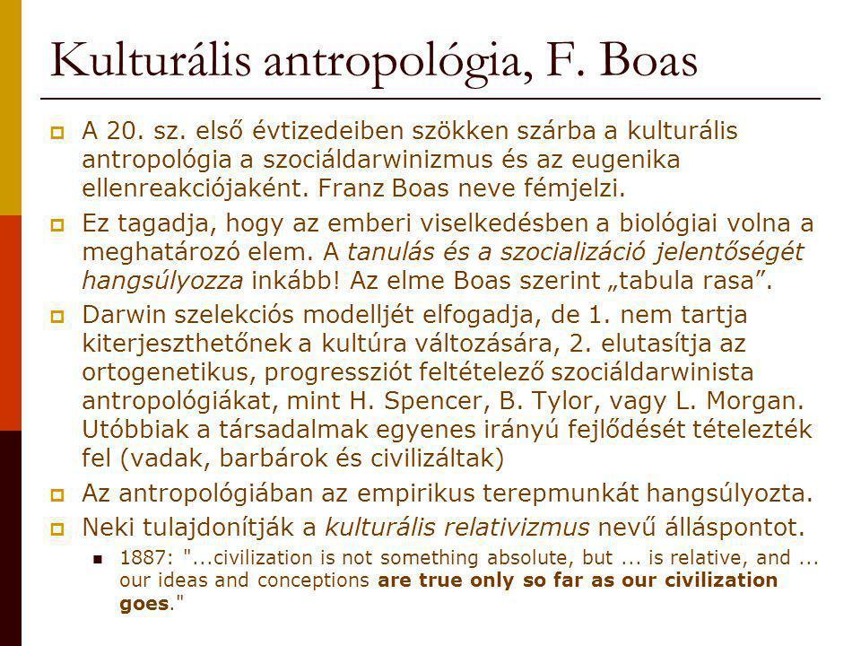 Kulturális antropológia, F. Boas