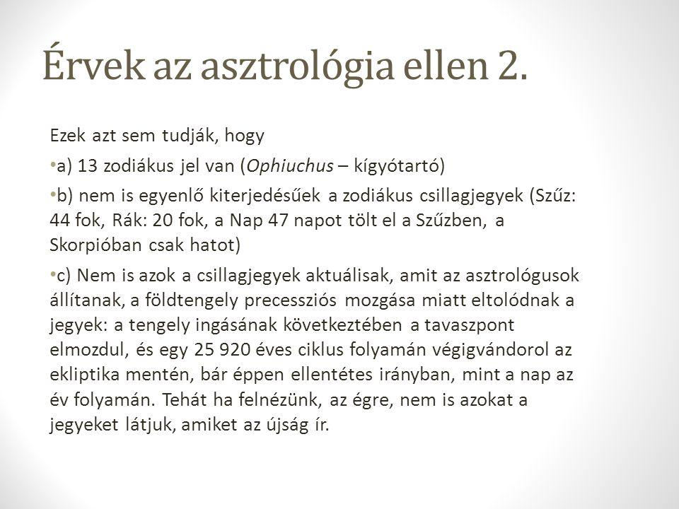 Érvek az asztrológia ellen 2.