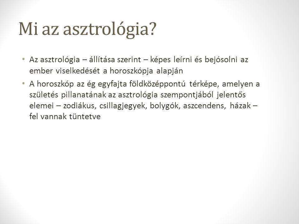 Mi az asztrológia Az asztrológia – állítása szerint – képes leírni és bejósolni az ember viselkedését a horoszkópja alapján.