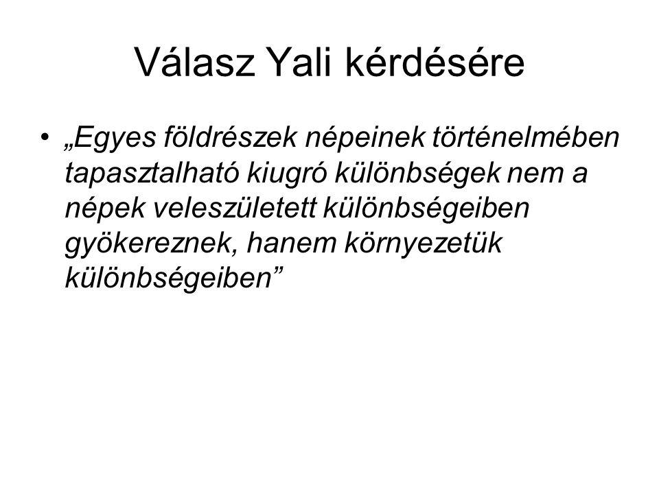 Válasz Yali kérdésére