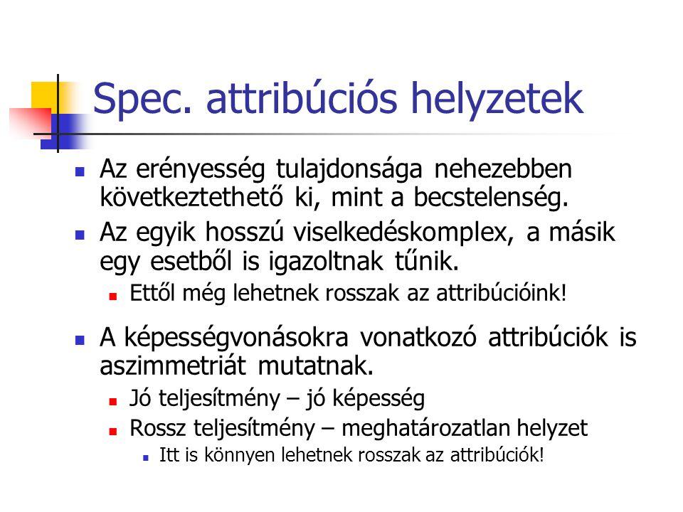 Spec. attribúciós helyzetek