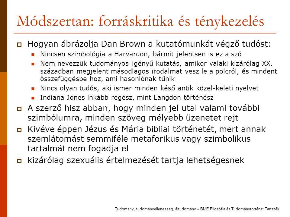 Módszertan: forráskritika és ténykezelés