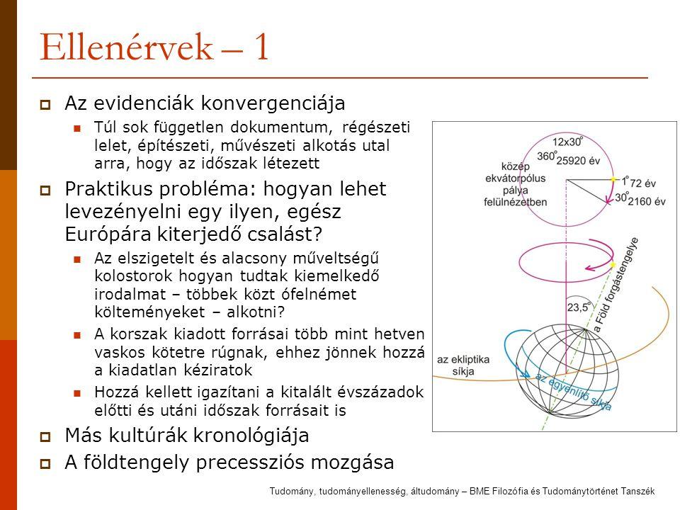 Ellenérvek – 1 Az evidenciák konvergenciája
