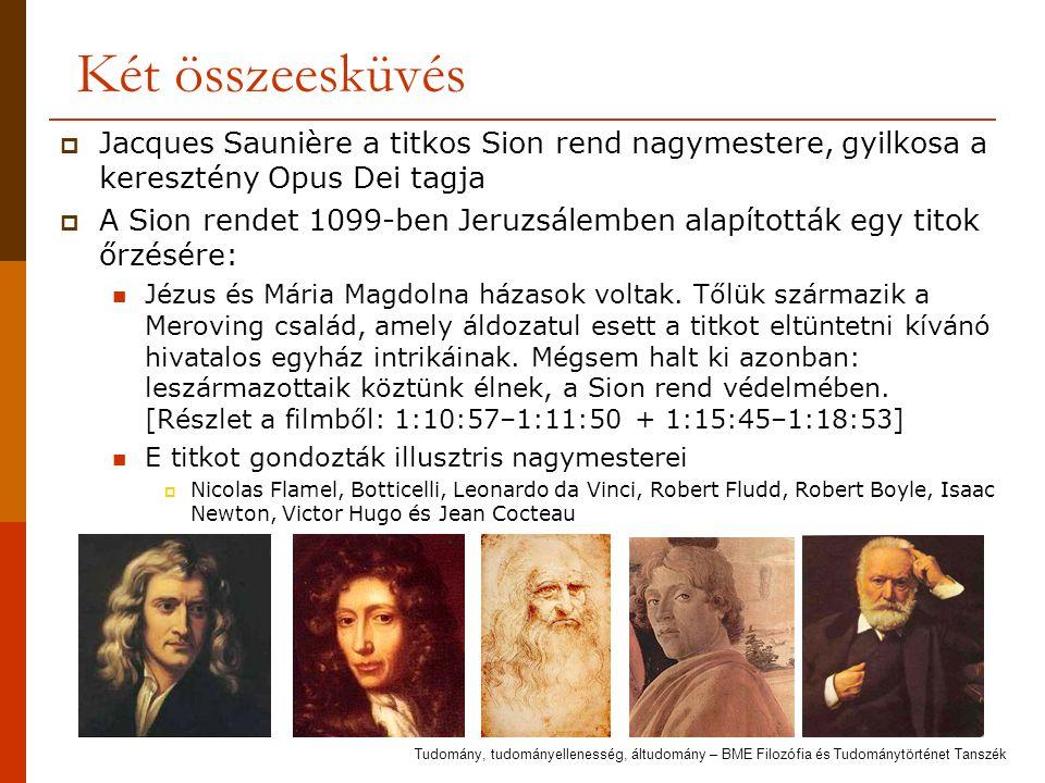 Két összeesküvés Jacques Saunière a titkos Sion rend nagymestere, gyilkosa a keresztény Opus Dei tagja.