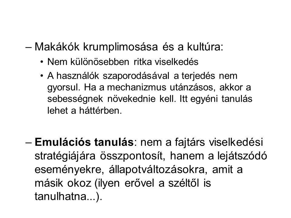 Makákók krumplimosása és a kultúra: