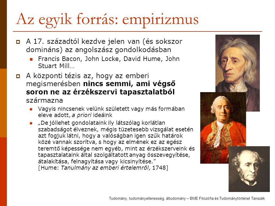 Az egyik forrás: empirizmus