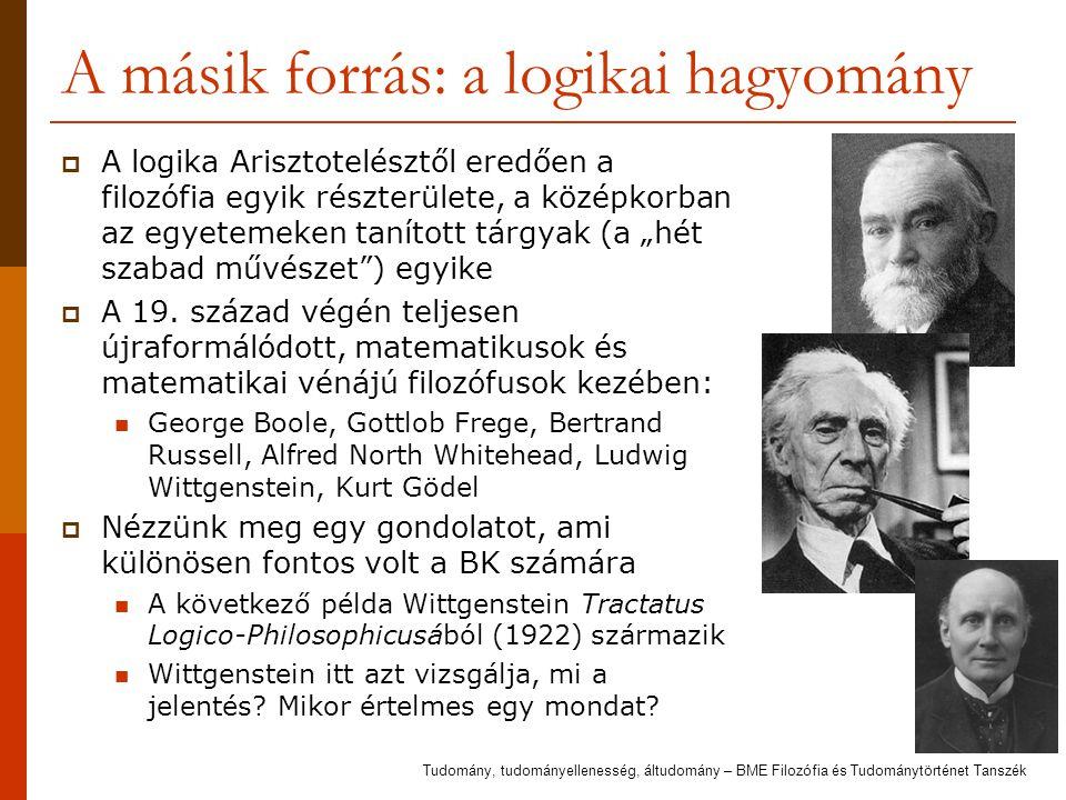 A másik forrás: a logikai hagyomány