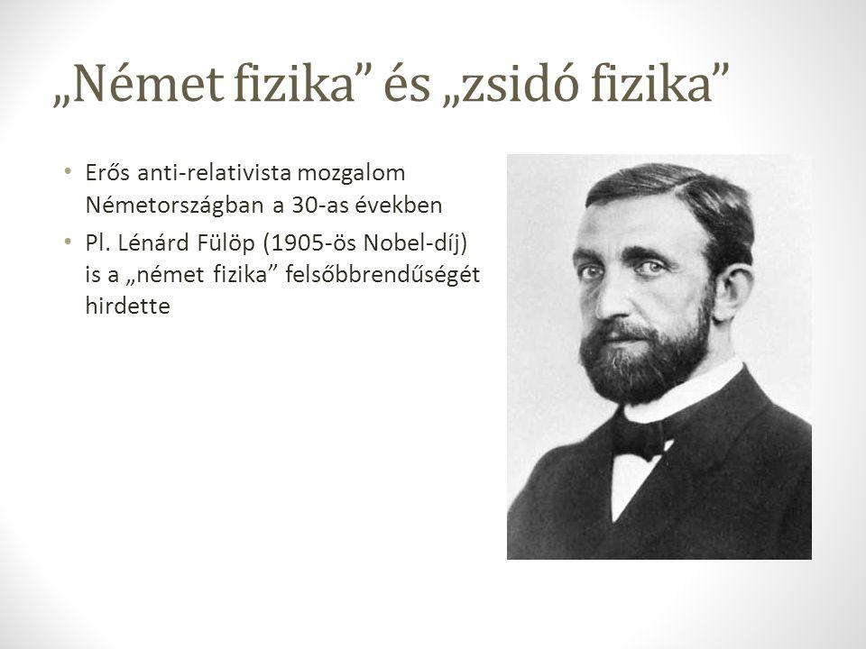 """""""Német fizika és """"zsidó fizika"""