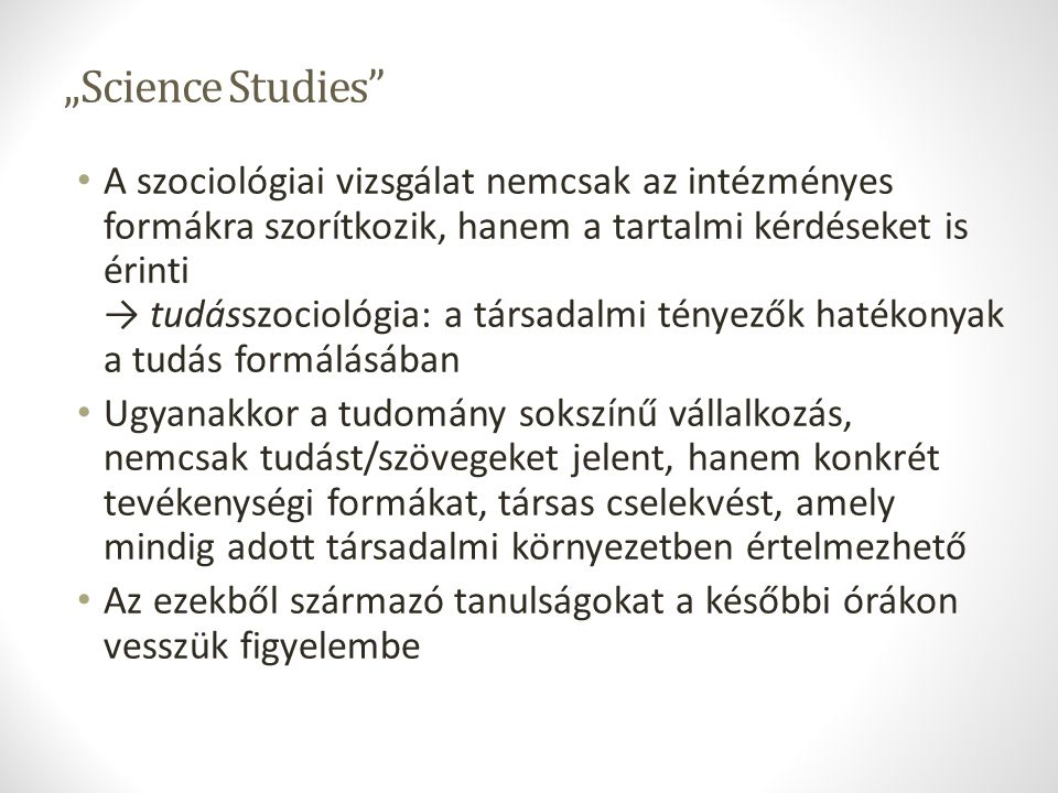 """Science Studies"