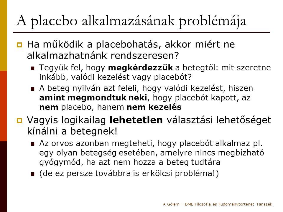 A placebo alkalmazásának problémája