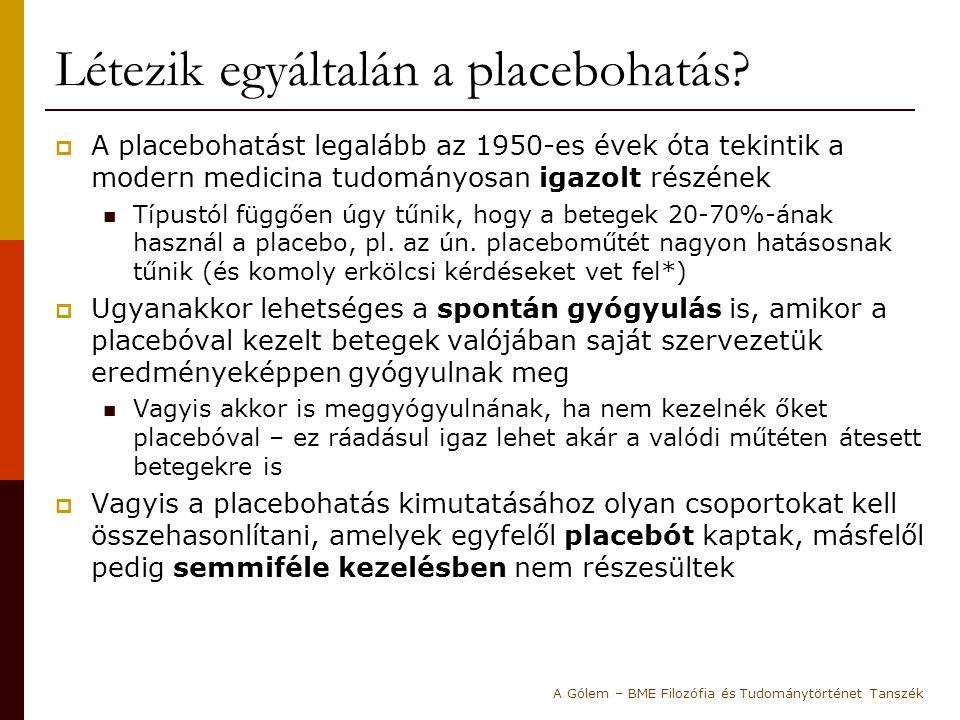 Létezik egyáltalán a placebohatás