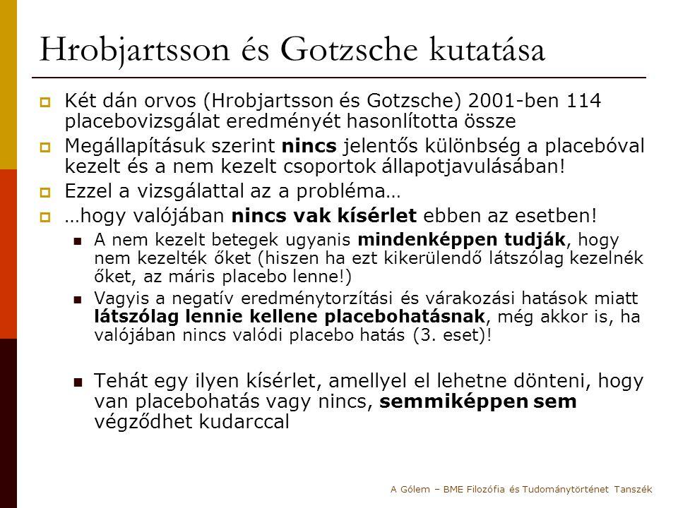 Hrobjartsson és Gotzsche kutatása