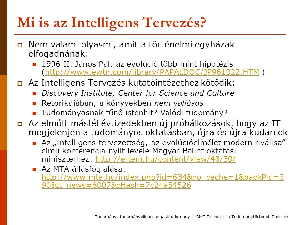 Mi is az Intelligens Tervezés