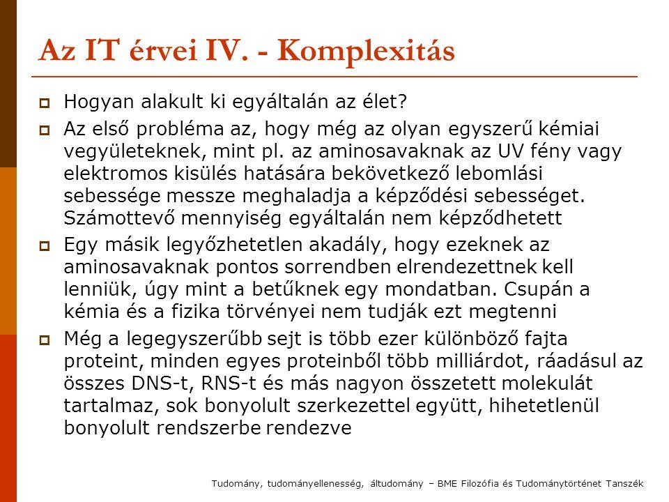 Az IT érvei IV. - Komplexitás