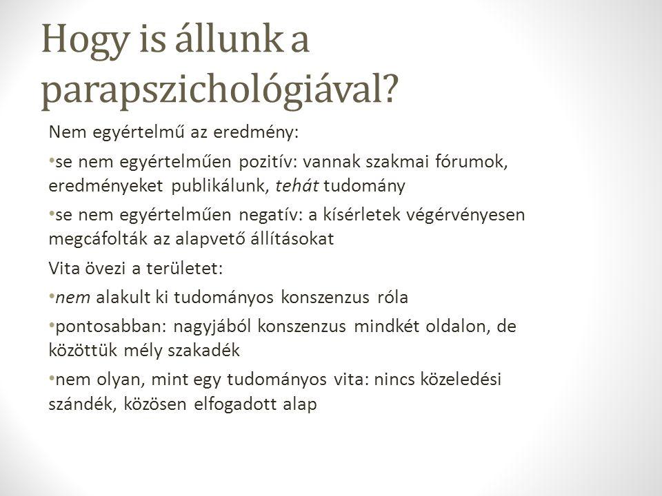 Hogy is állunk a parapszichológiával