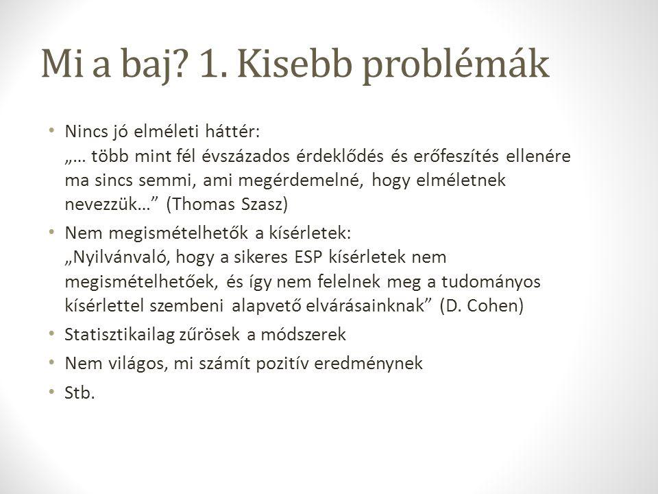 Mi a baj 1. Kisebb problémák