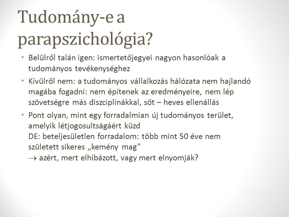 Tudomány-e a parapszichológia