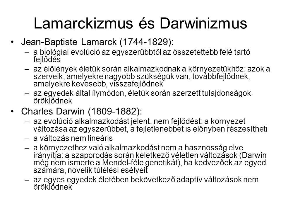 Lamarckizmus és Darwinizmus