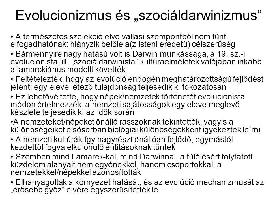"""Evolucionizmus és """"szociáldarwinizmus"""