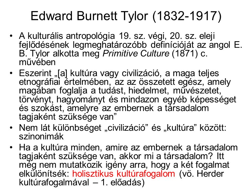 Edward Burnett Tylor (1832-1917)