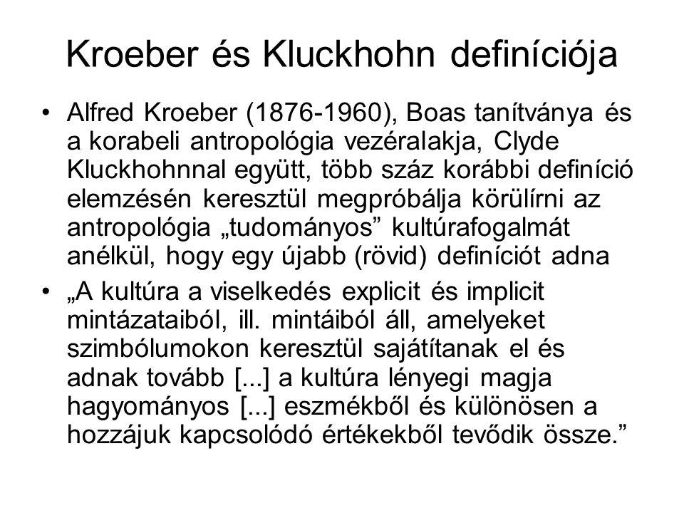 Kroeber és Kluckhohn definíciója