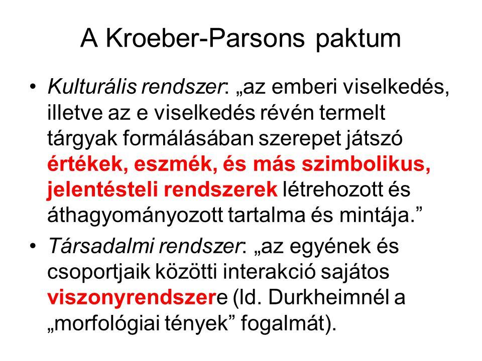 A Kroeber-Parsons paktum