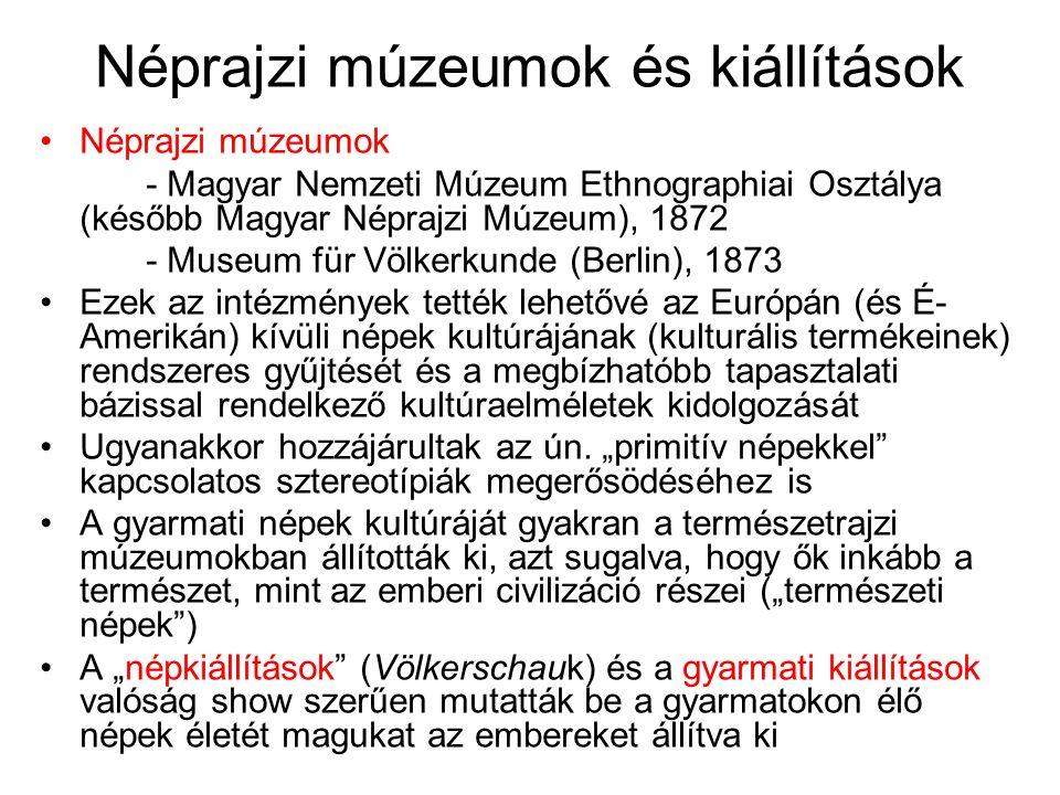 Néprajzi múzeumok és kiállítások