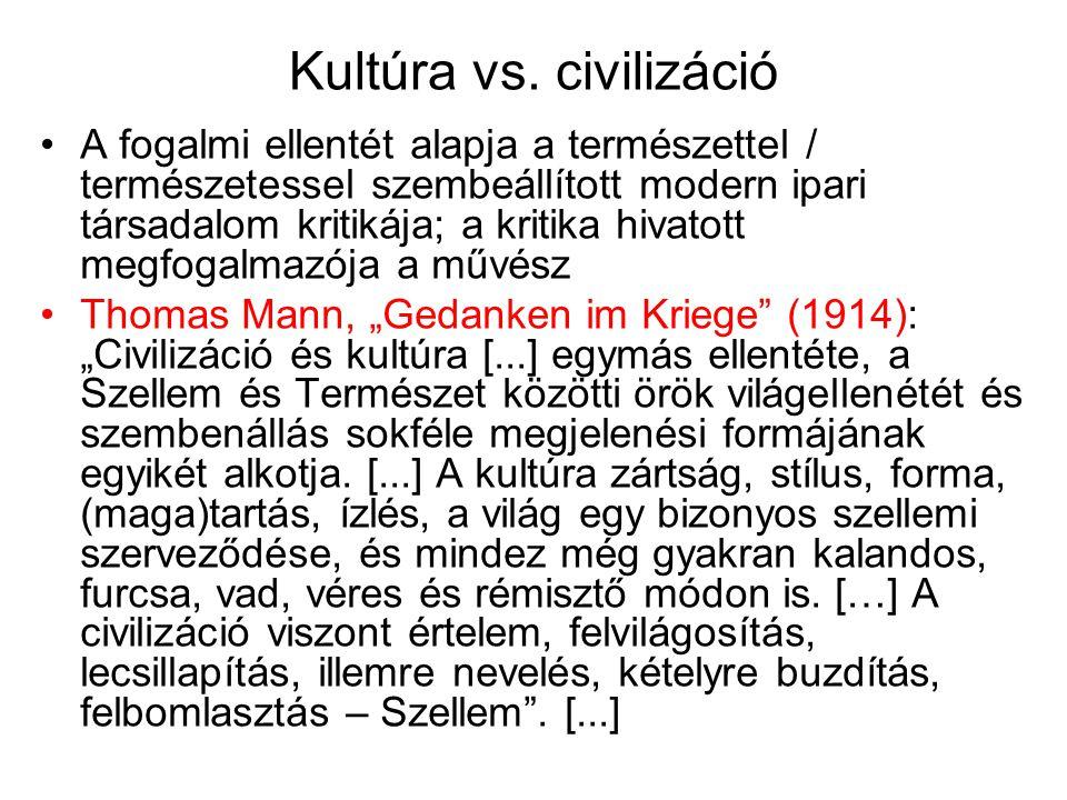 Kultúra vs. civilizáció