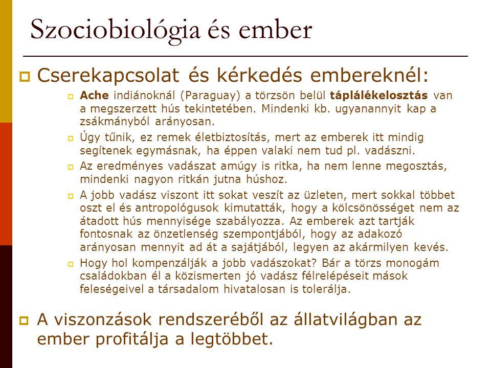 Szociobiológia és ember