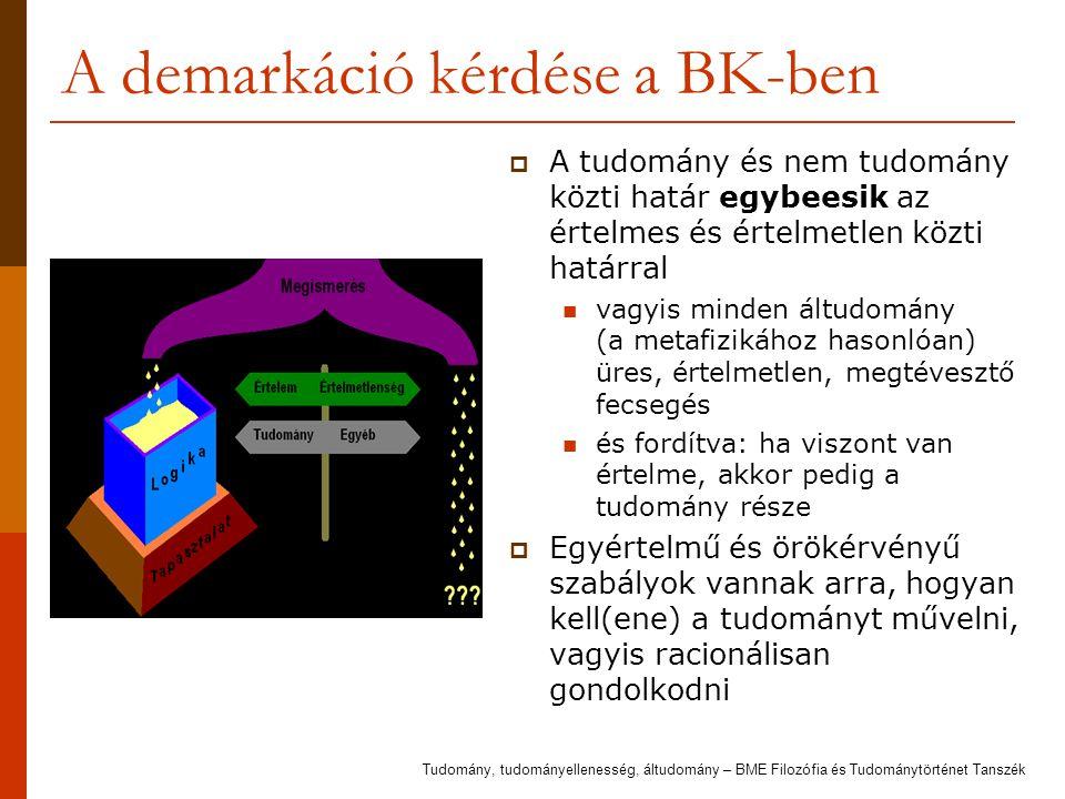 A demarkáció kérdése a BK-ben