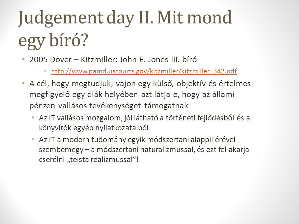Judgement day II. Mit mond egy bíró