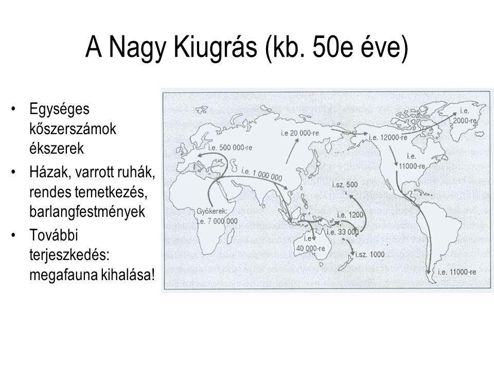 A Nagy Kiugrás (kb. 50e éve)