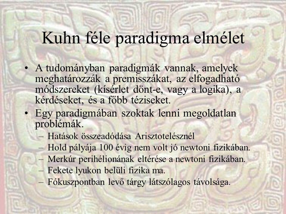 Kuhn féle paradigma elmélet