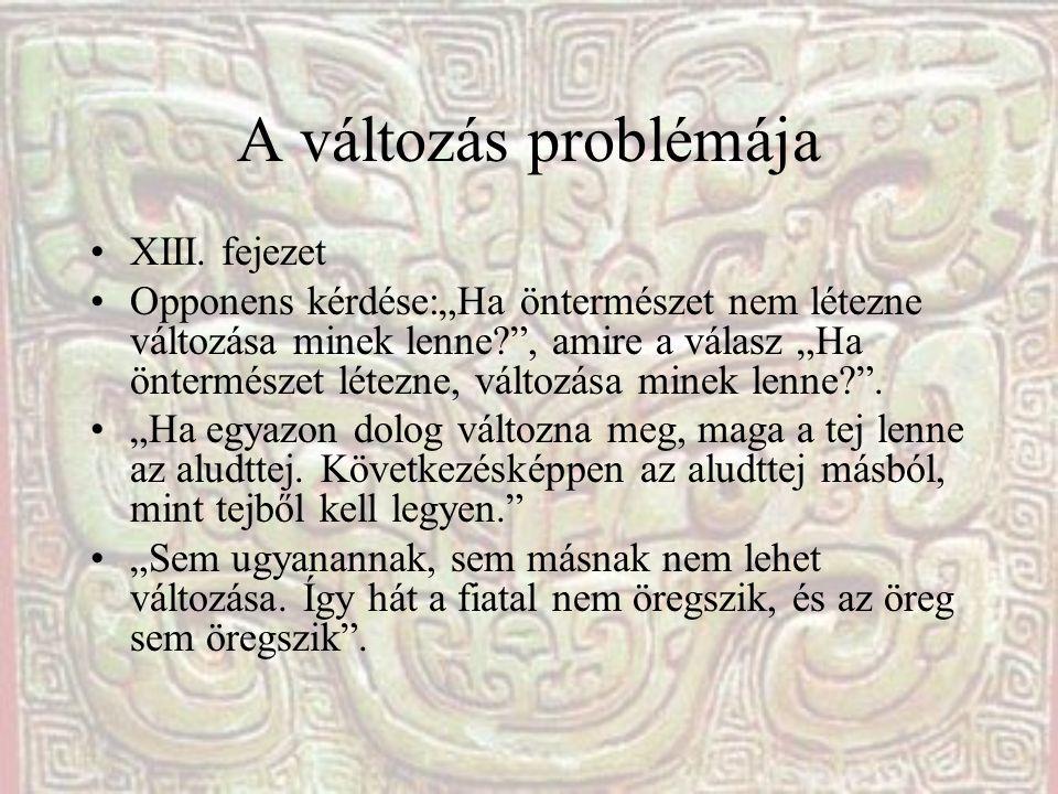 A változás problémája XIII. fejezet