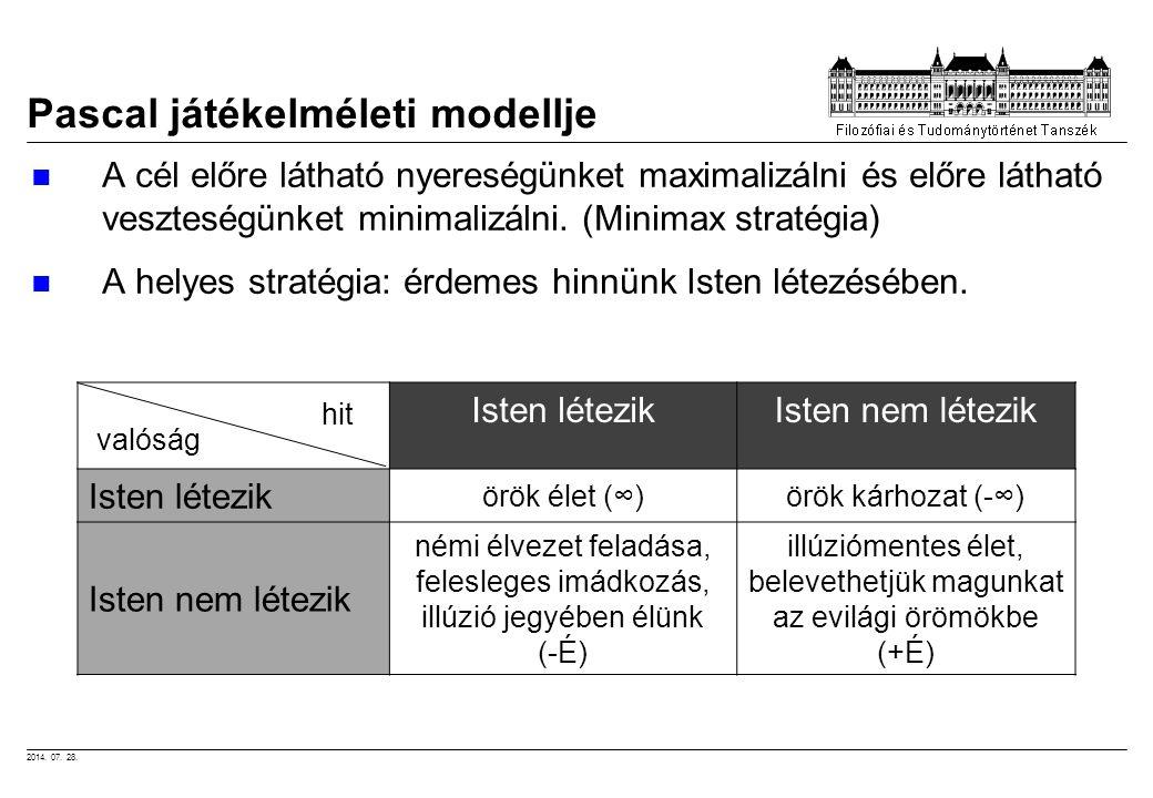 Pascal játékelméleti modellje