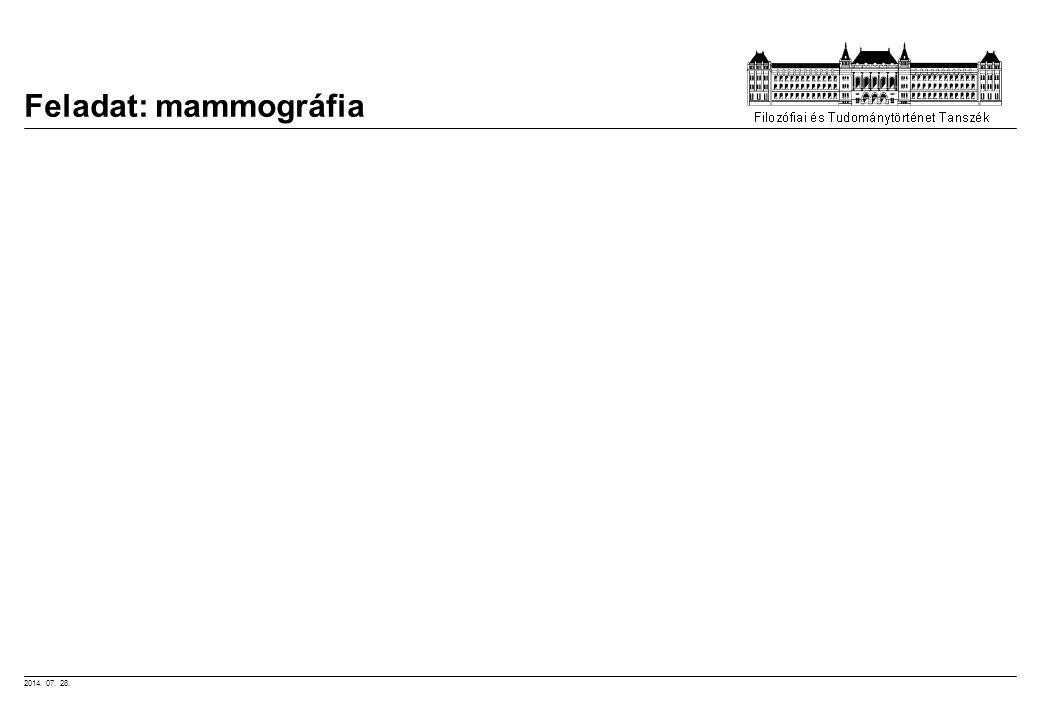 Feladat: mammográfia