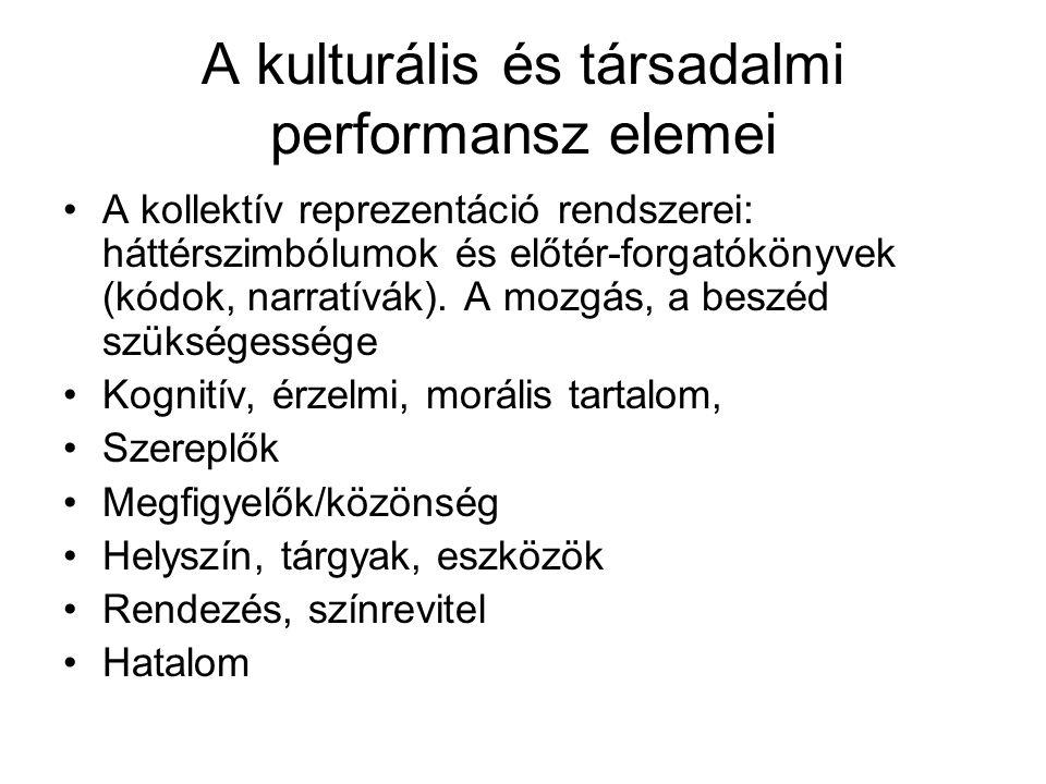 A kulturális és társadalmi performansz elemei