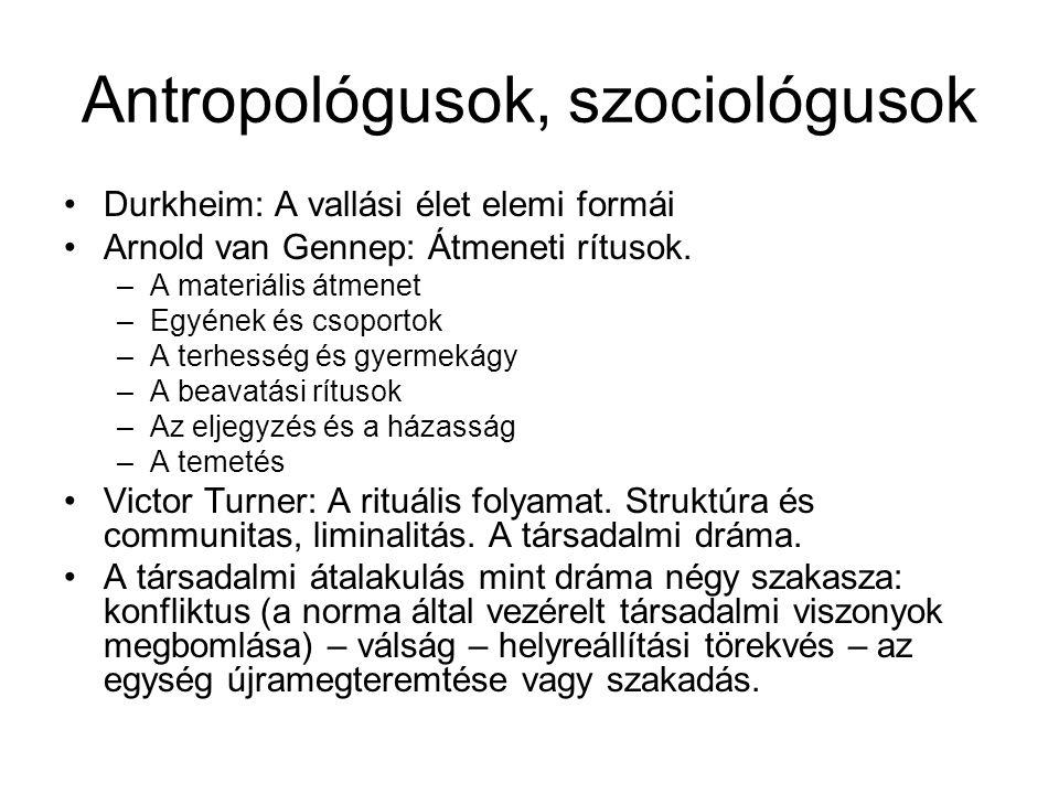 Antropológusok, szociológusok