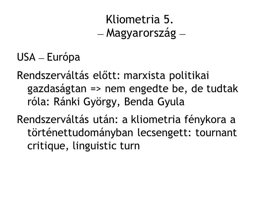 Kliometria 5. – Magyarország –
