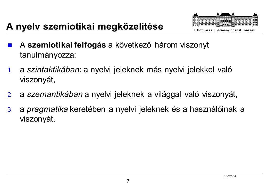 A nyelv szemiotikai megközelítése