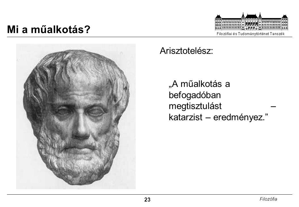 Mi a műalkotás Arisztotelész: