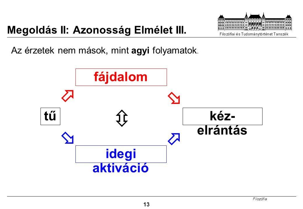Megoldás II: Azonosság Elmélet III.