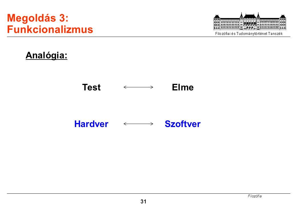 Megoldás 3: Funkcionalizmus
