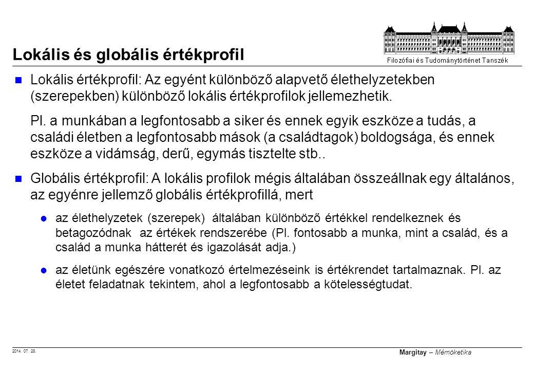 Lokális és globális értékprofil