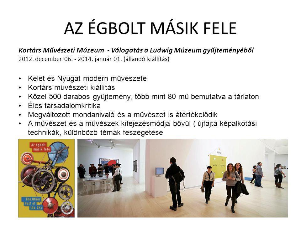 AZ ÉGBOLT MÁSIK FELE Kortárs Művészeti Múzeum - Válogatás a Ludwig Múzeum gyűjteményéből 2012. december 06. - 2014. január 01. (állandó kiállítás)