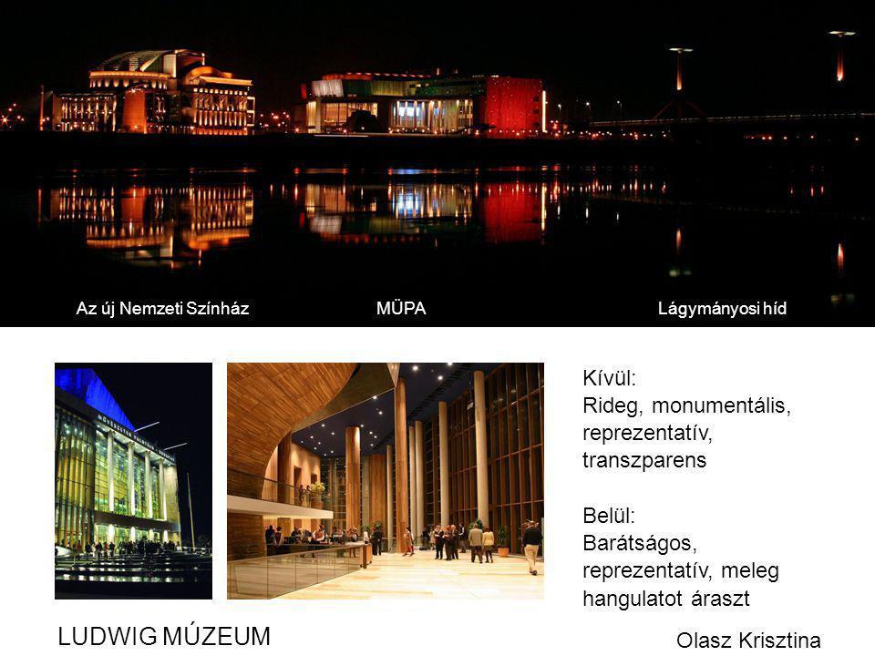 LUDWIG MÚZEUM Kívül: Rideg, monumentális, reprezentatív, transzparens