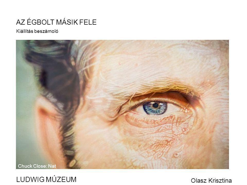 AZ ÉGBOLT MÁSIK FELE LUDWIG MÚZEUM Olasz Krisztina Kiállítás beszámoló