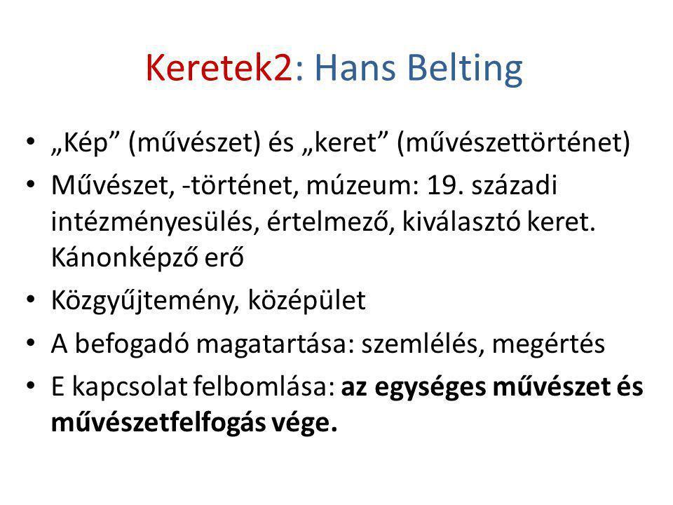 """Keretek2: Hans Belting """"Kép (művészet) és """"keret (művészettörténet)"""