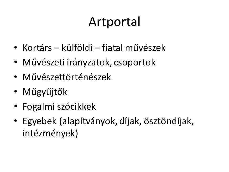 Artportal Kortárs – külföldi – fiatal művészek